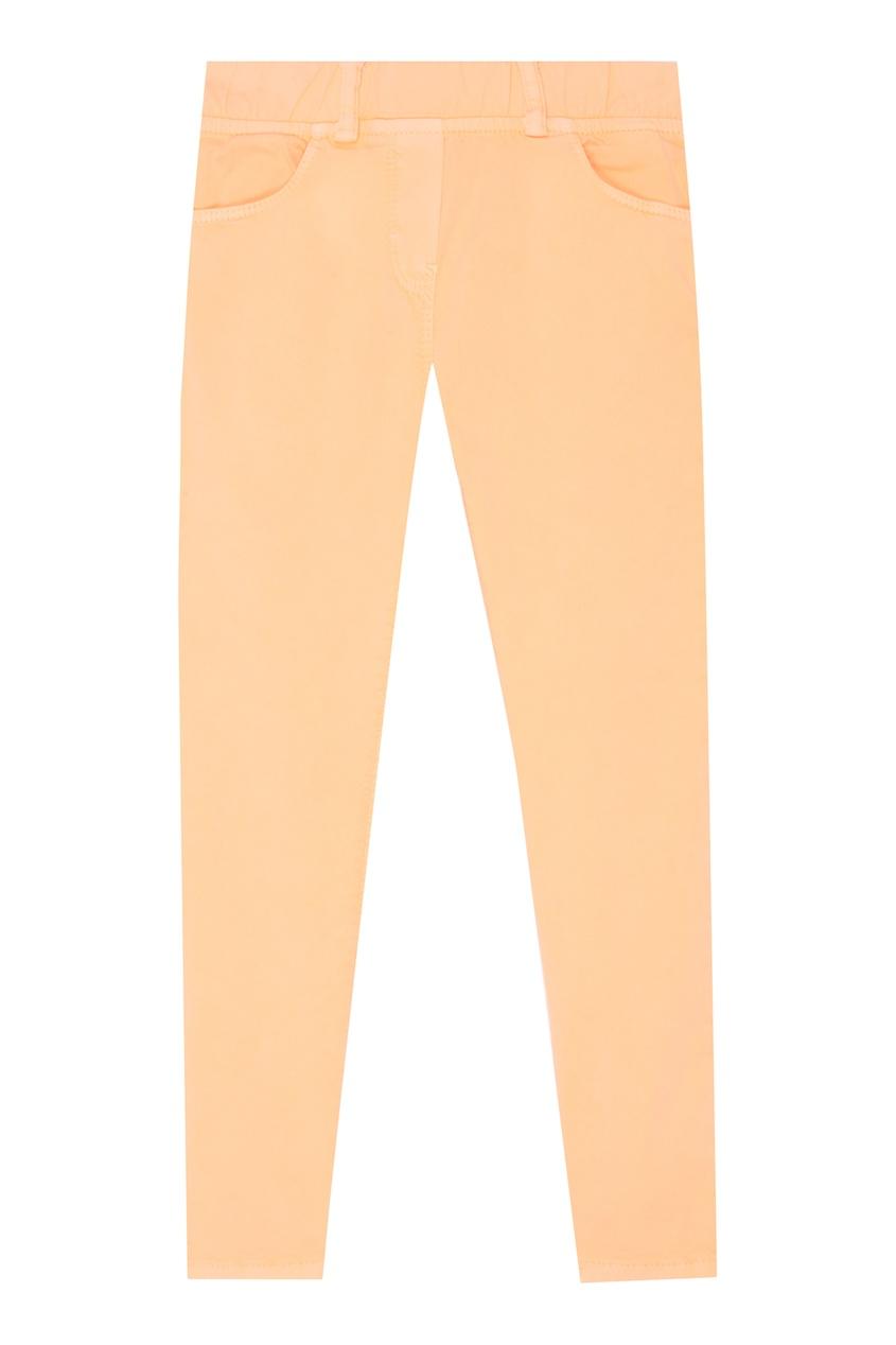 Купить Оранжевые брюки из хлопка оранжевого цвета