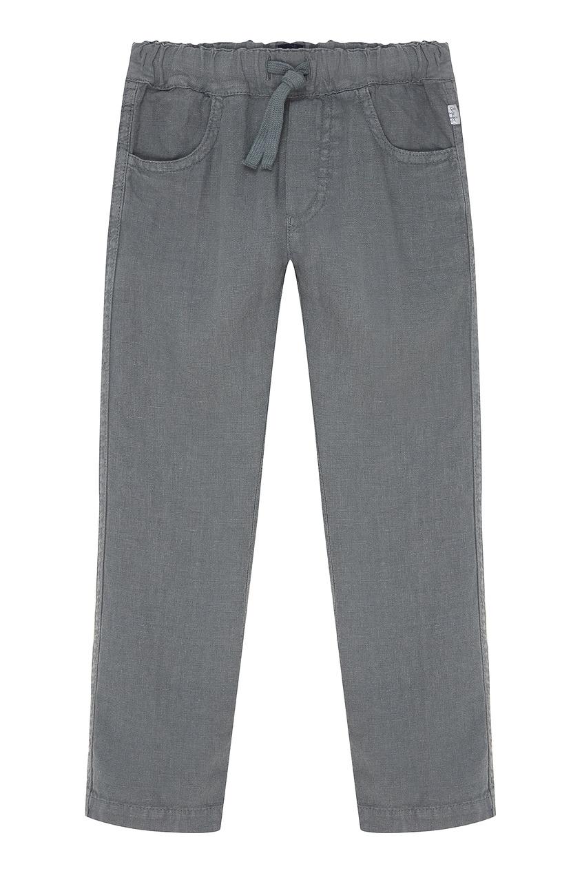 Серые брюки изо льна IL Gufo