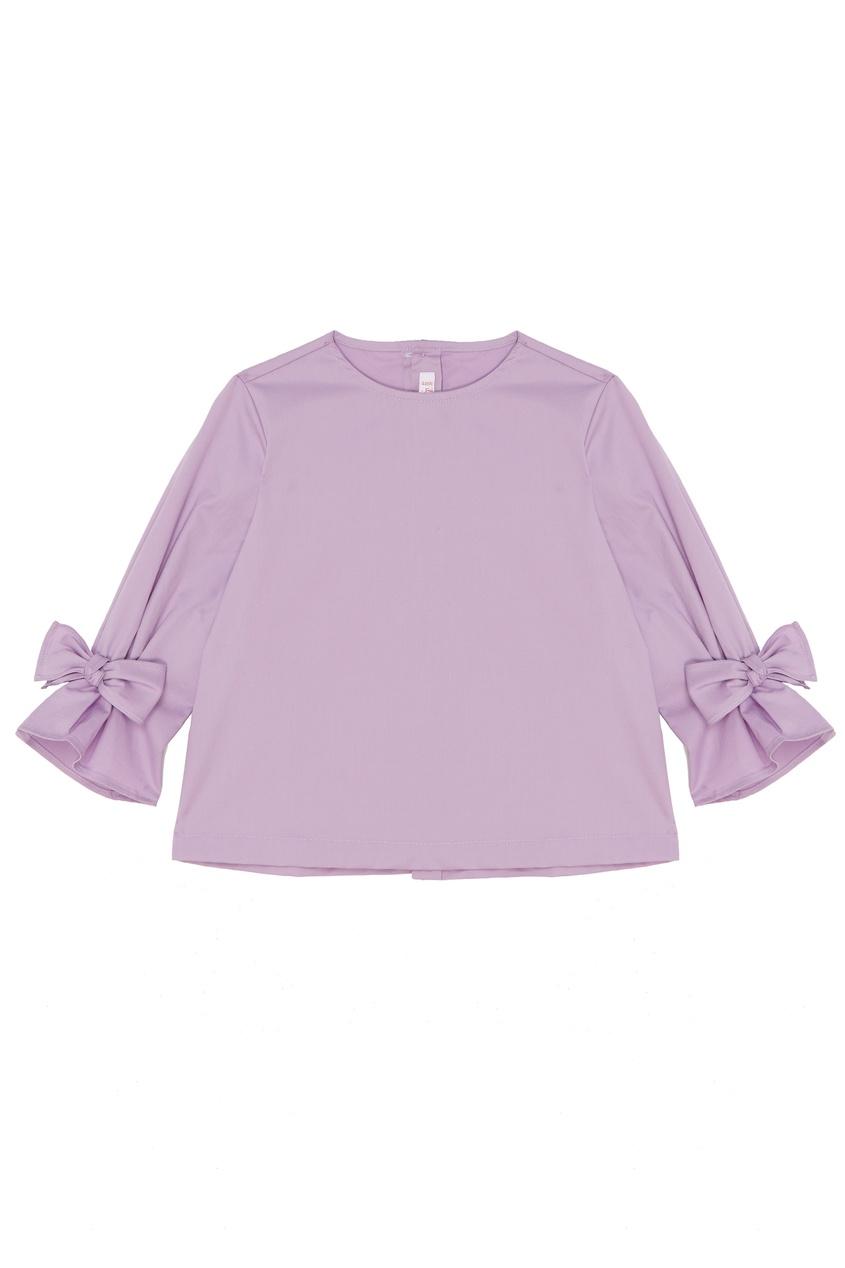 Купить Сиреневая блузка А-силуэта фиолетового цвета