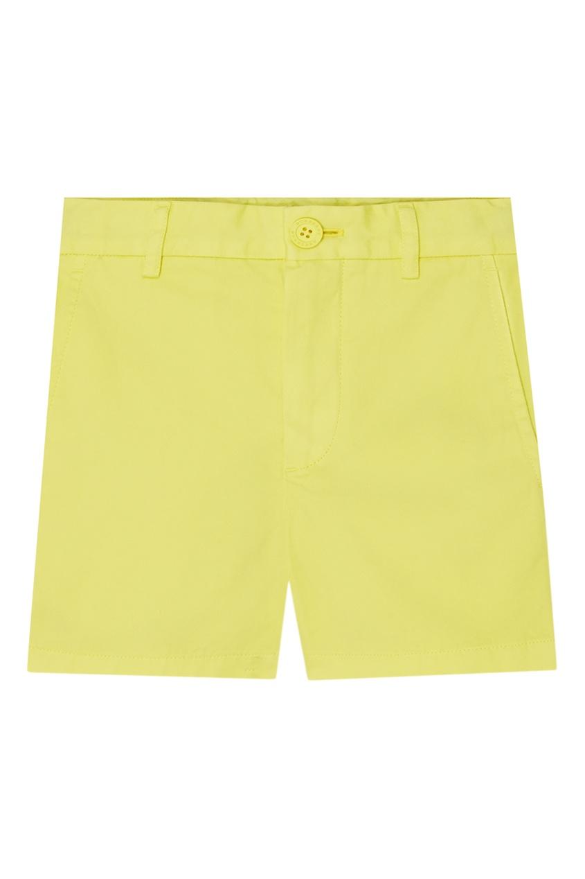 Купить Желтые хлопковые шорты от Burberry Kids желтого цвета