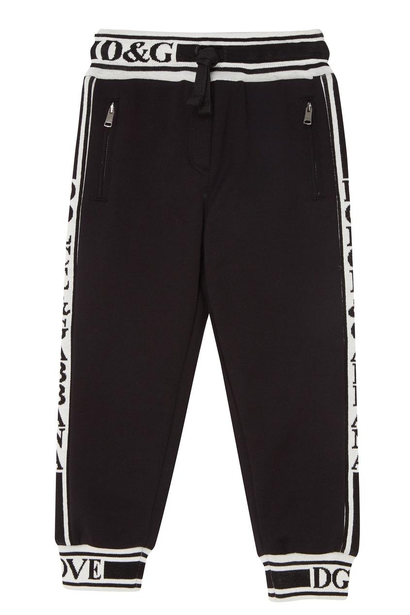 Купить Черные брюки с контрастной отделкой черного цвета