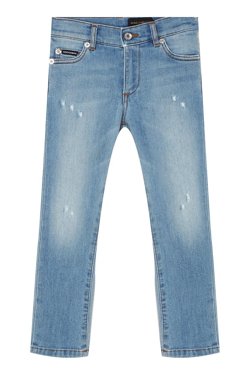 Купить Голубые джинсы голубого цвета