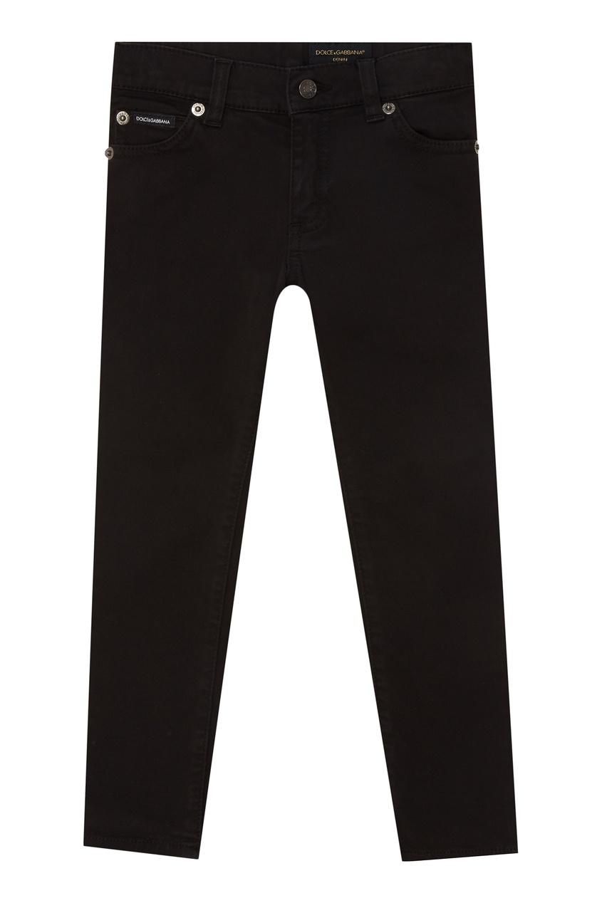 Купить Зауженные черные джинсы черного цвета