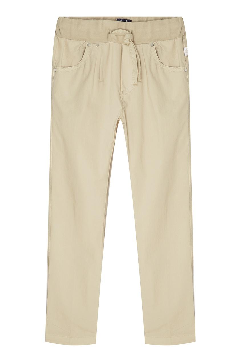 Купить Бежевые хлопковые брюки бежевого цвета