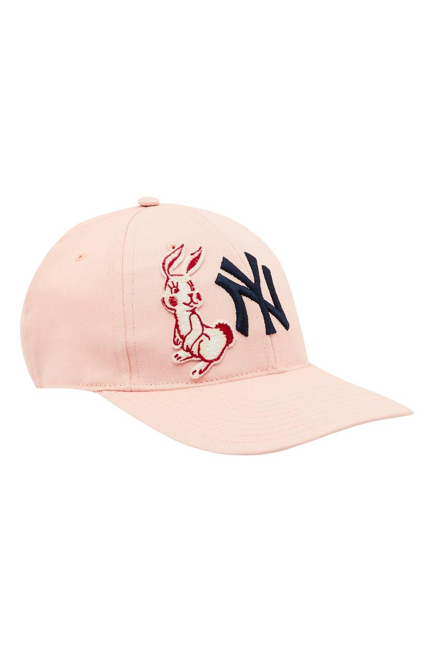 Розовая бейсболка NY Yankees™ от Gucci