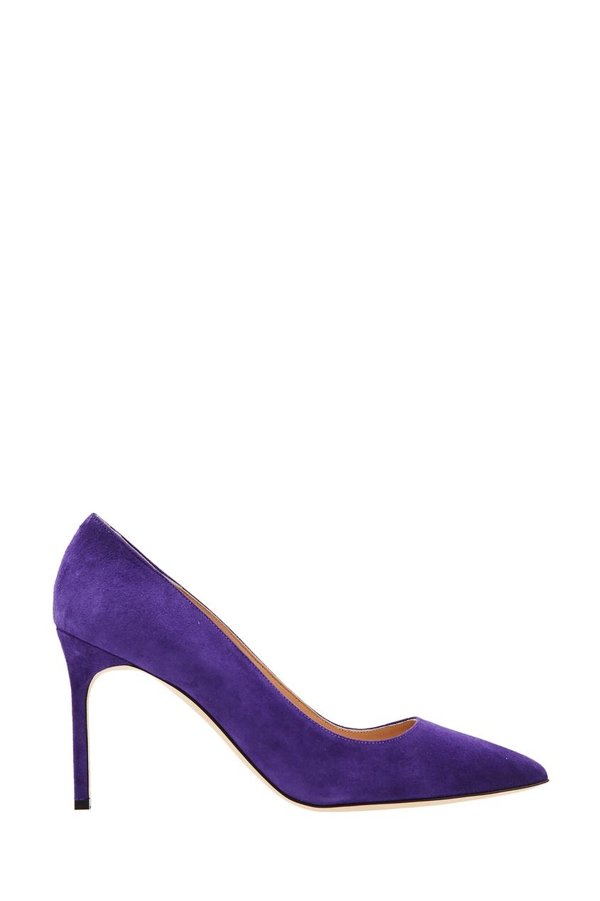 Купить Фиолетовые туфли BB от Manolo Blahnik фиолетового цвета