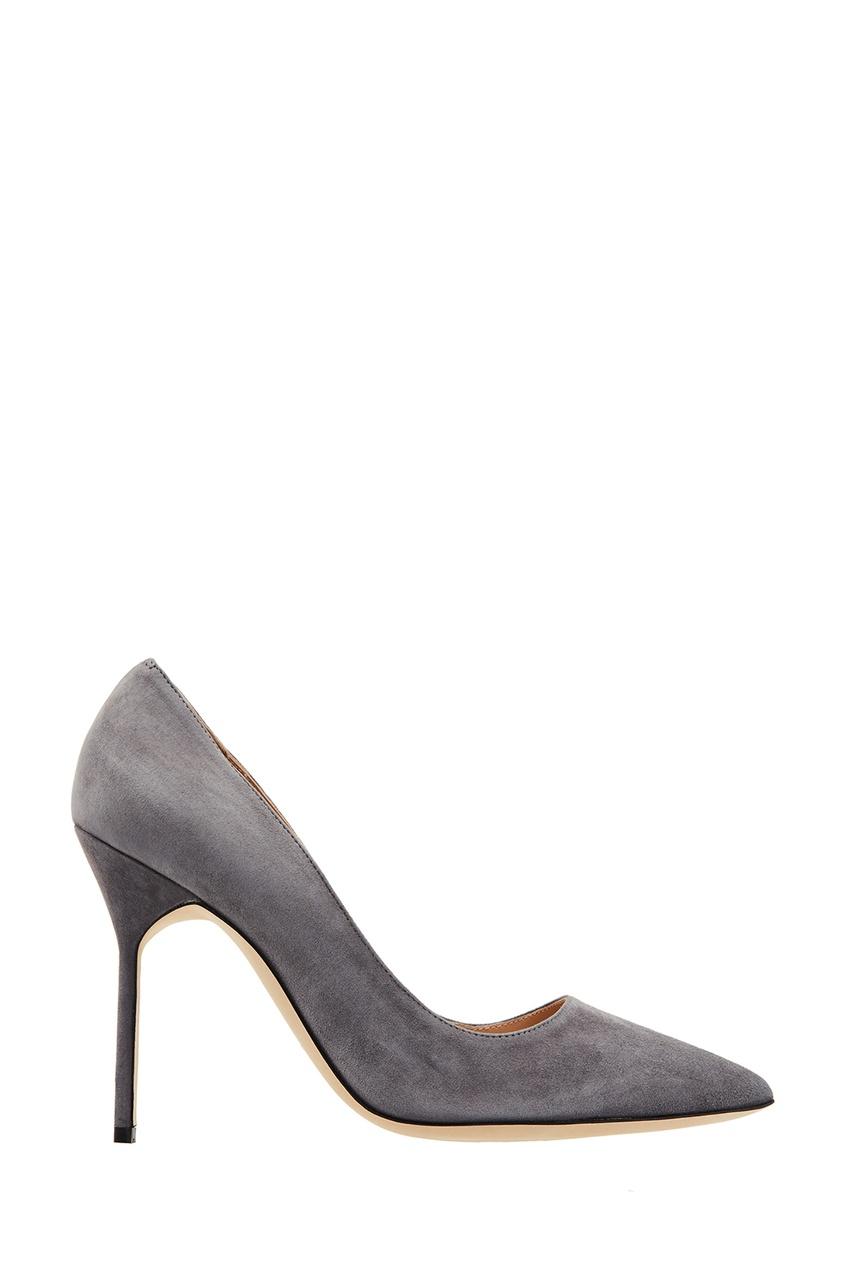 Купить Серые туфли BB от Manolo Blahnik серого цвета