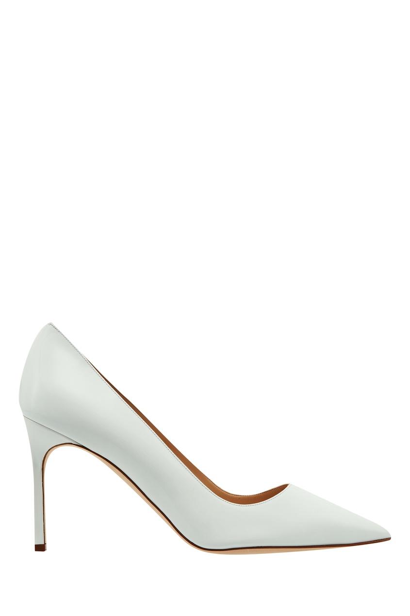 Белые туфли BB Manolo Blahnik