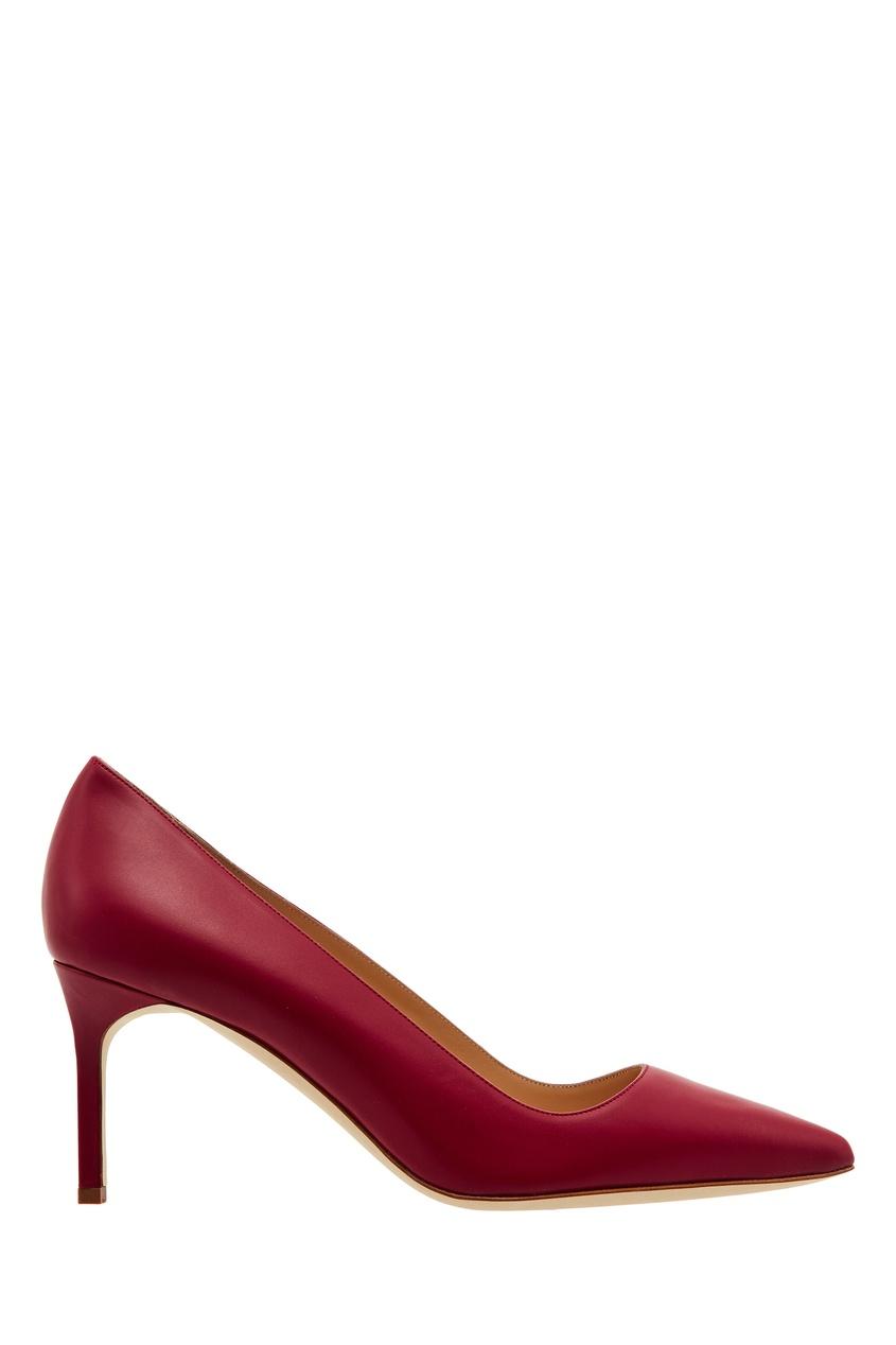 Купить Красные кожаные туфли BB от Manolo Blahnik красного цвета