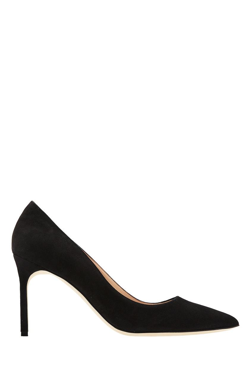 Купить Черные замшевые туфли ВВ от Manolo Blahnik черного цвета