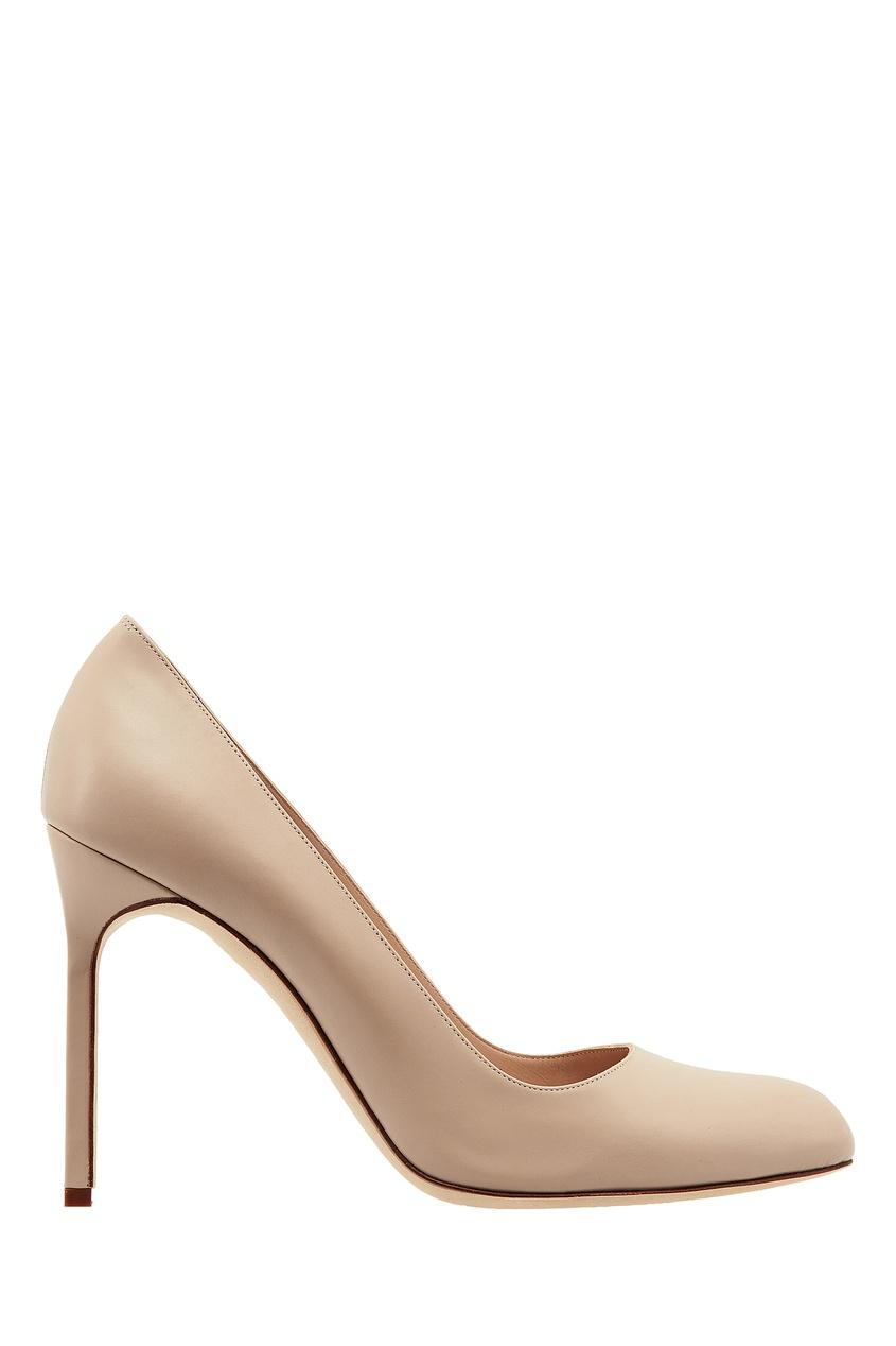 Купить Нюдовые туфли BBR от Manolo Blahnik бежевого цвета