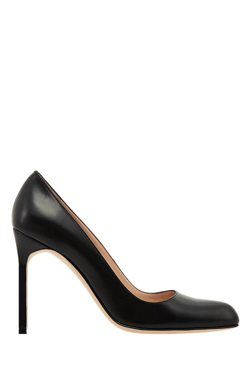 Черные кожаные туфли BBR от Manolo Blahnik
