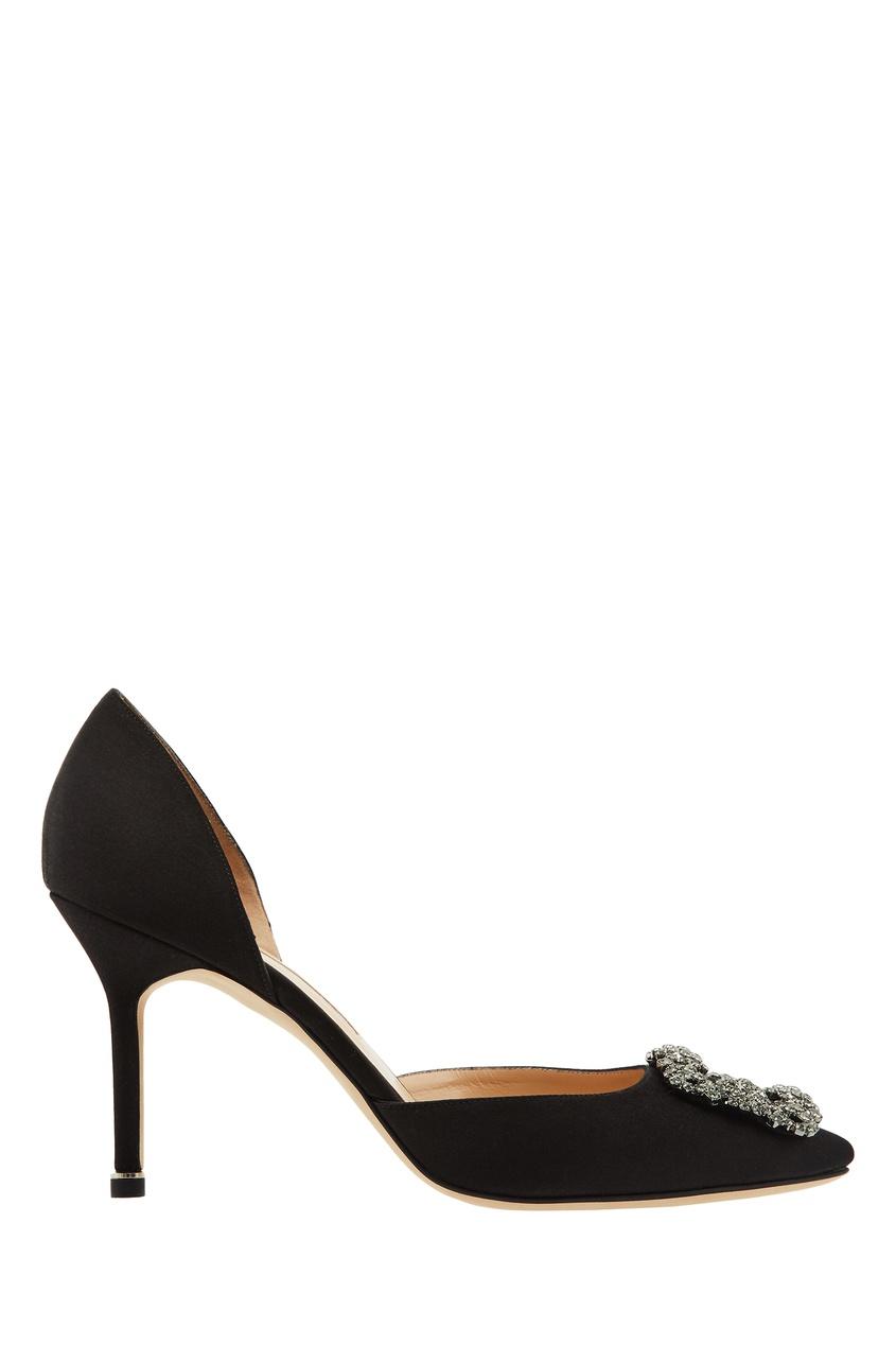 Черные туфли Hangisido от Manolo Blahnik