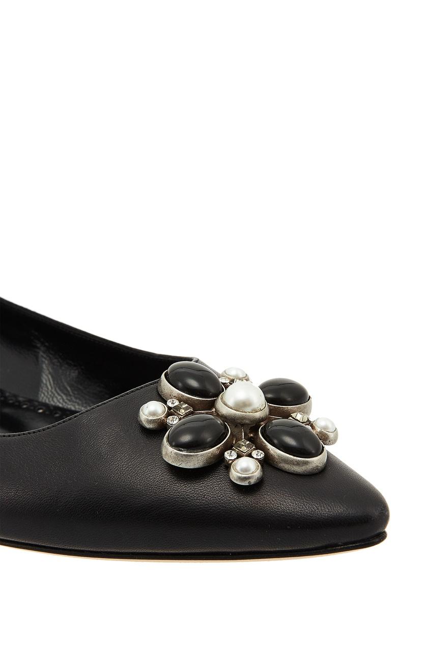 Manolo Blahnik Черные туфли Nariaflat