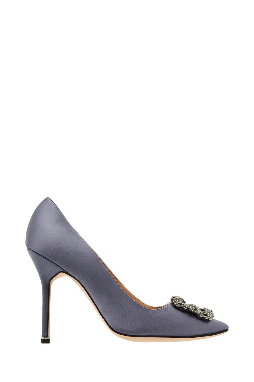 Серо-голубые туфли Hangisi Manolo Blahnik