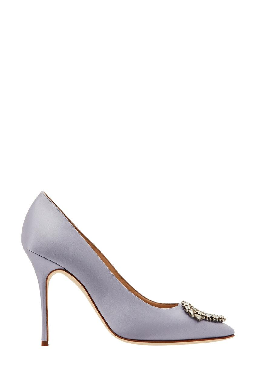 Купить Туфли Okkava от Manolo Blahnik серебрянного цвета