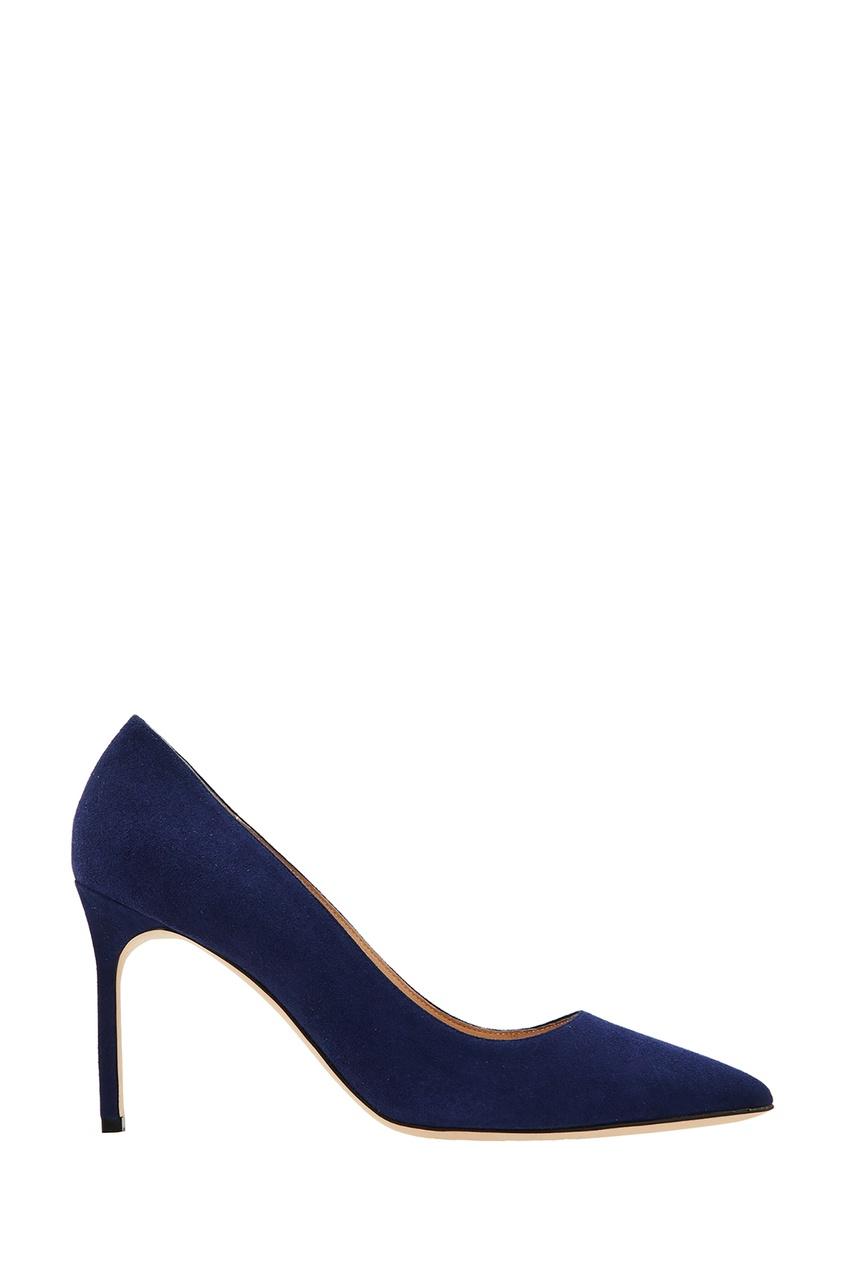 Синие замшевые туфли BB от Manolo Blahnik