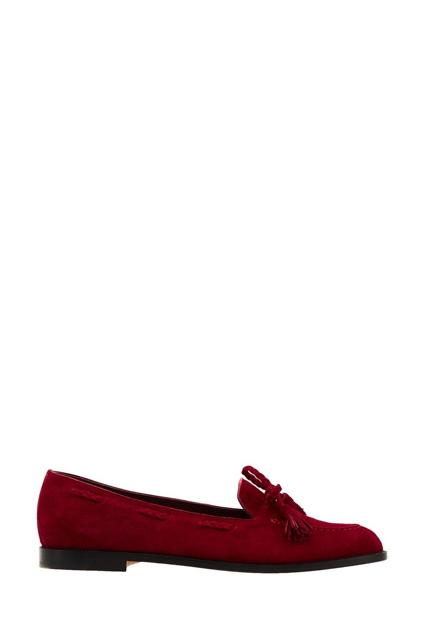 Красные лоферы Erica от Manolo Blahnik