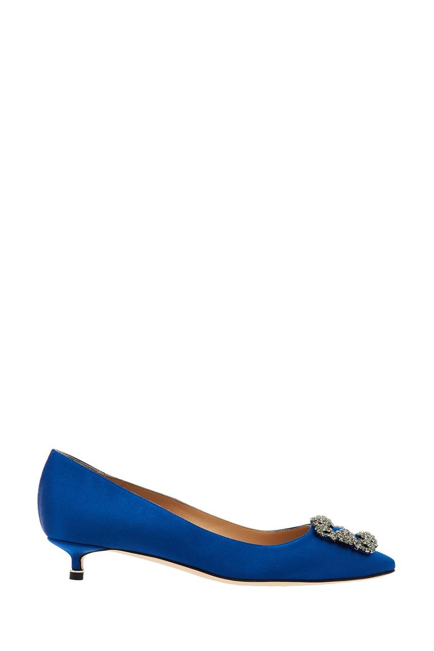 Синие туфли Hangisi от Manolo Blahnik