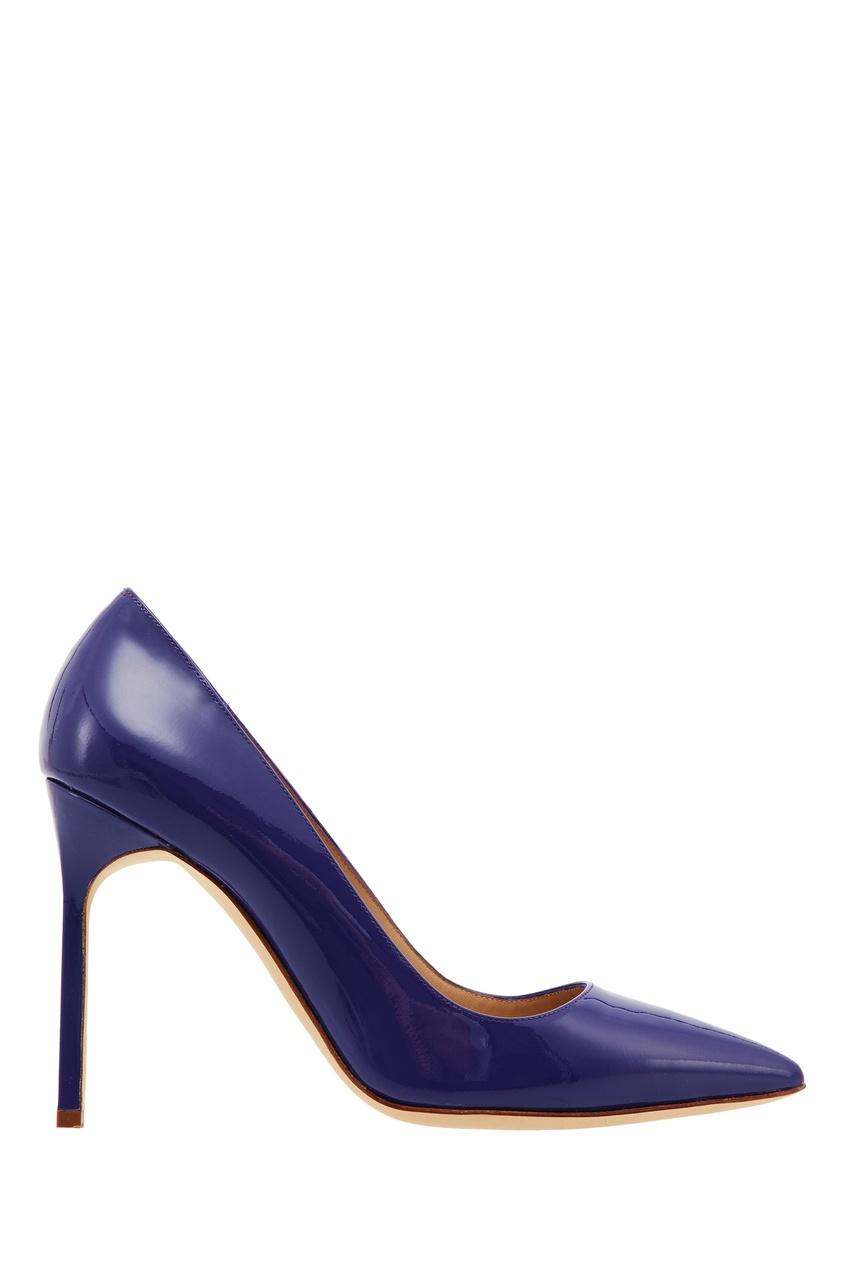 Купить Лакированные туфли BB синего цвета от Manolo Blahnik синего цвета