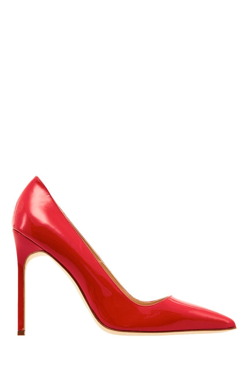 женские туфли manolo blahnik, красные