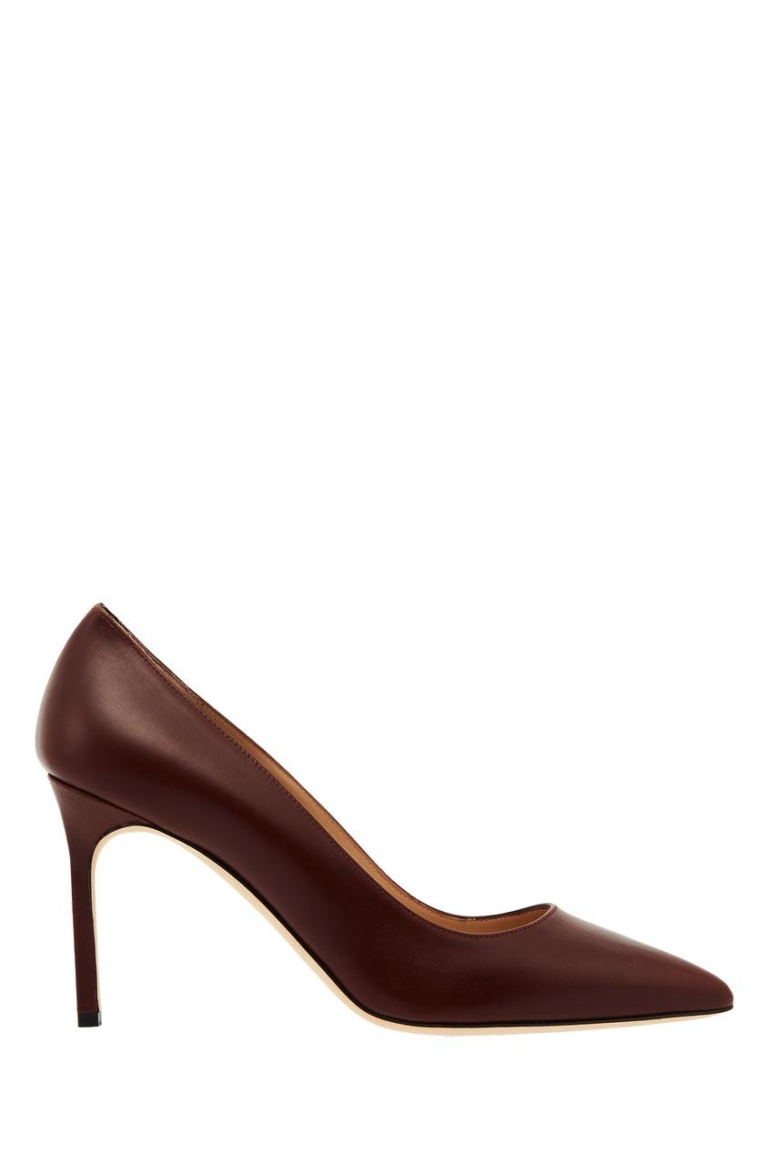 женские туфли manolo blahnik, коричневые