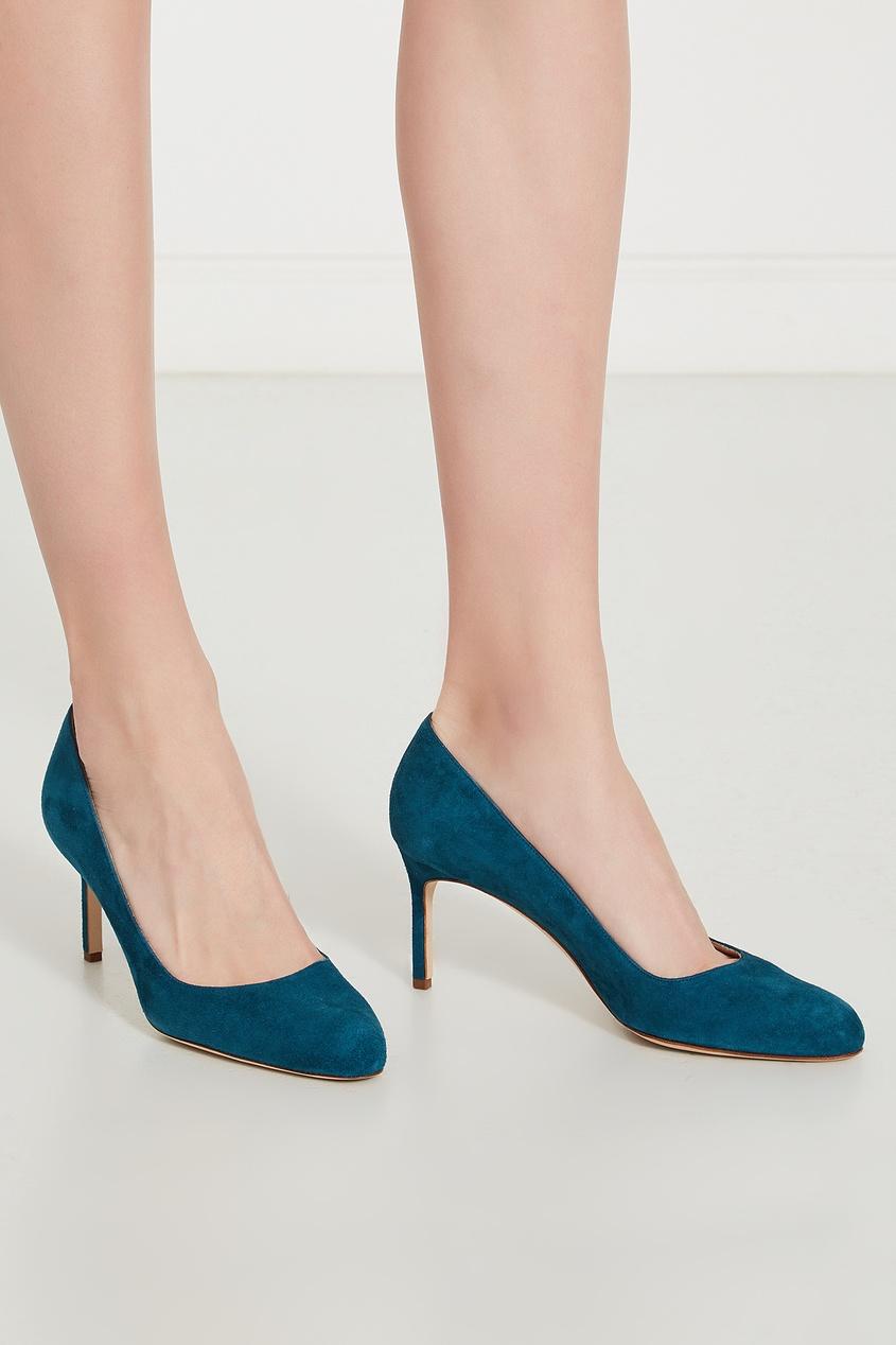 Фото 3 - Бирюзовые туфли BBR из замши от Manolo Blahnik синего цвета