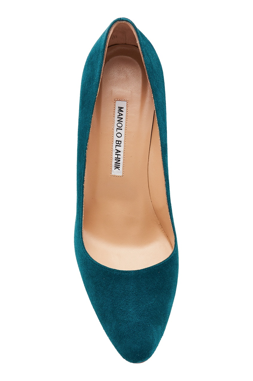 Фото 6 - Бирюзовые туфли BBR из замши от Manolo Blahnik синего цвета