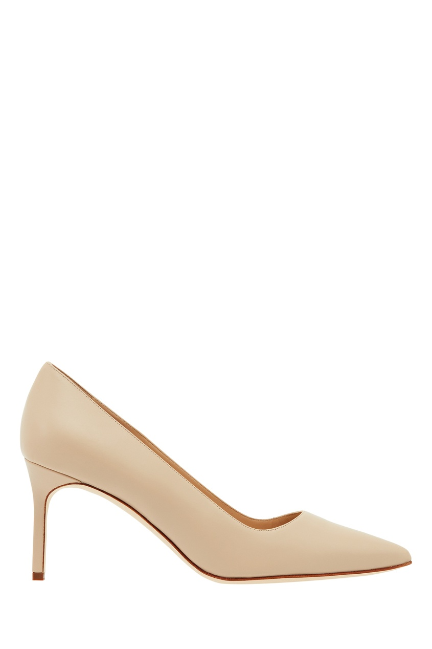женские туфли manolo blahnik, бежевые