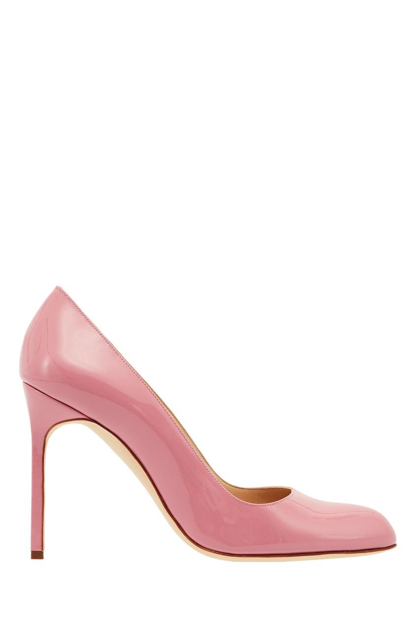 Купить Розовые туфли BBR от Manolo Blahnik розового цвета