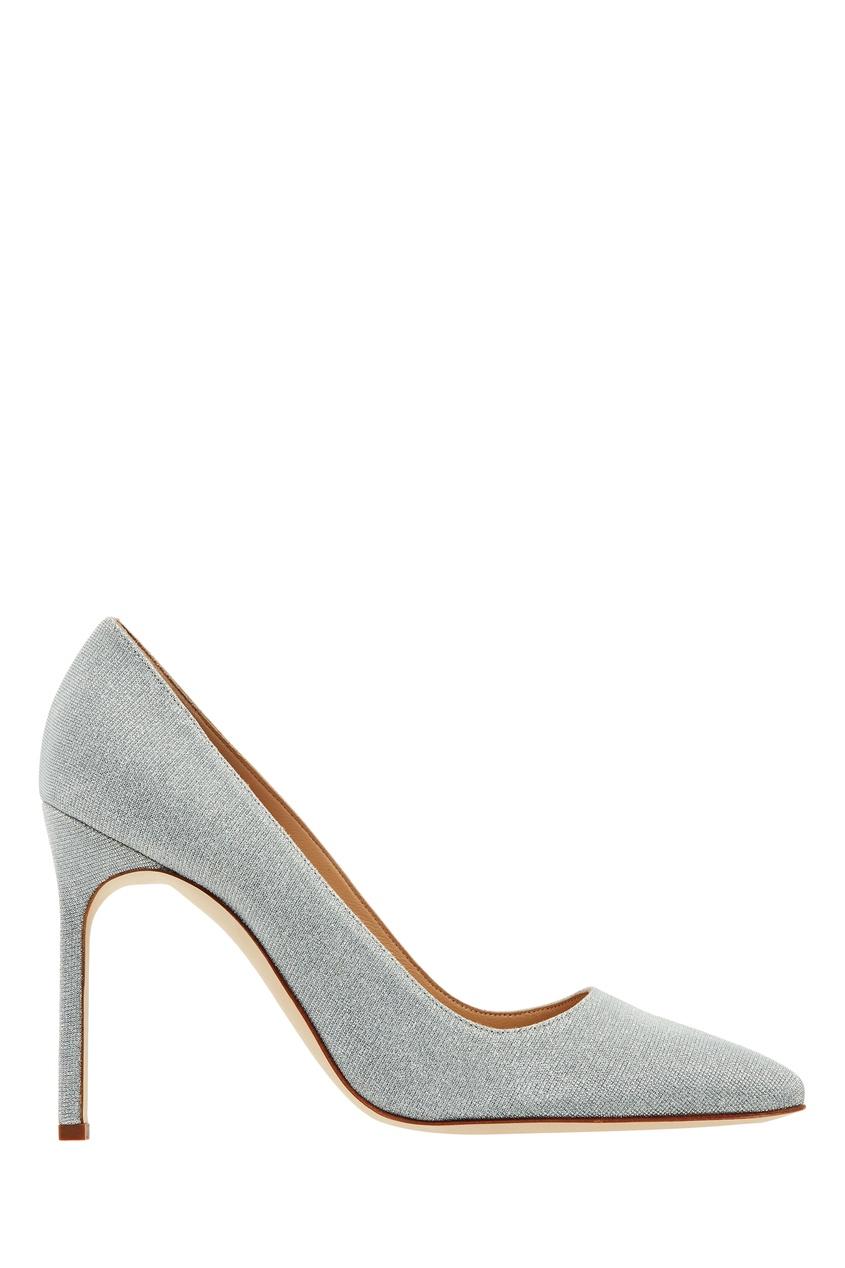 Купить Серебристые туфли BB Notturno от Manolo Blahnik серебрянного цвета