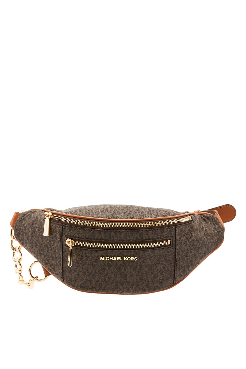 женская поясные сумка michael kors, коричневая