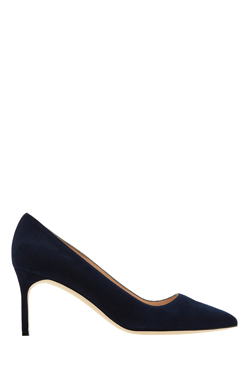Купить Темно-синие туфли BB от Manolo Blahnik синего цвета