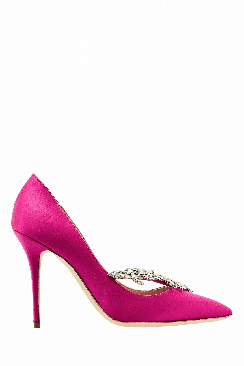 Купить Туфли Nadira оттенка фуксии от Manolo Blahnik цвета фуксия