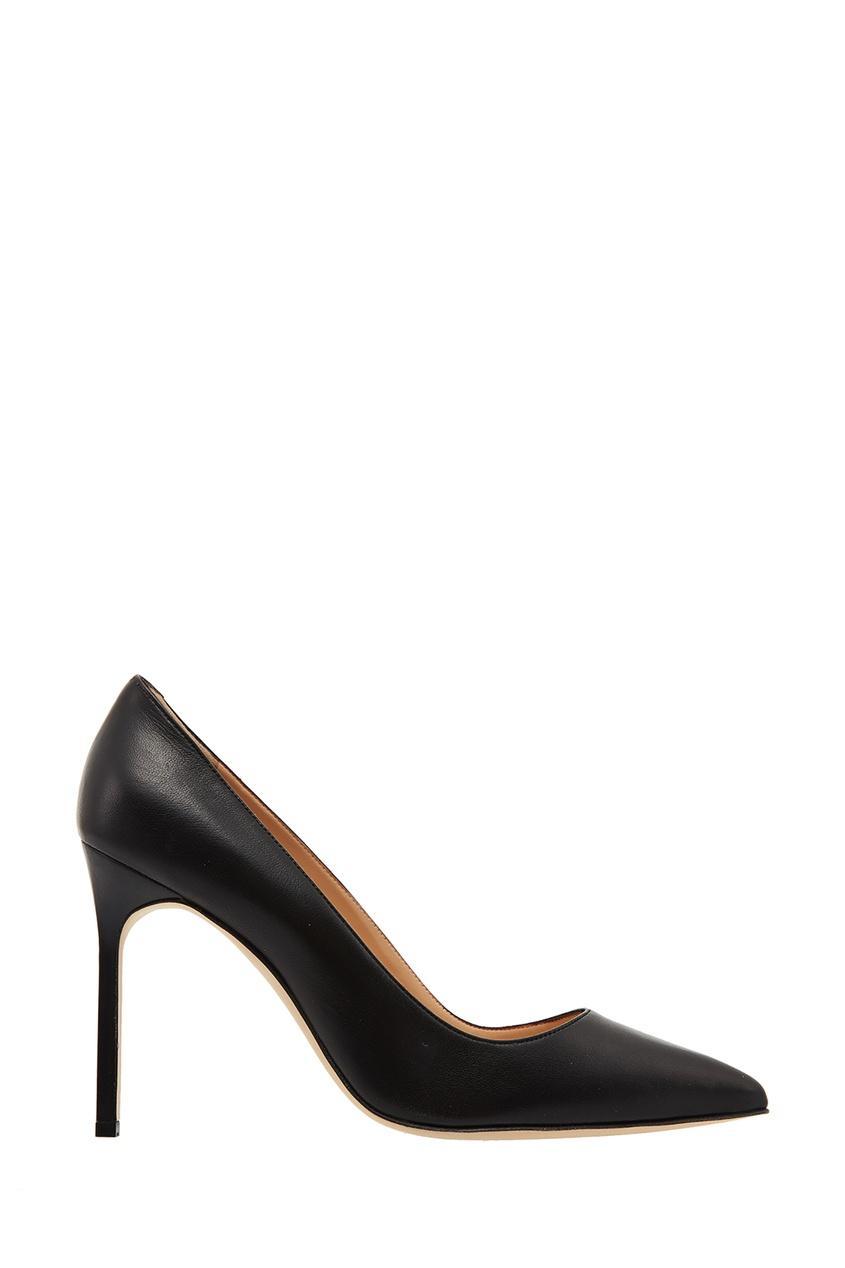Фото - Черные туфли BB из кожи от Manolo Blahnik черного цвета