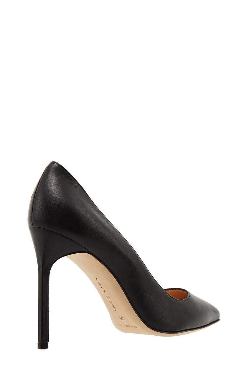 Фото 4 - Черные туфли BB из кожи от Manolo Blahnik черного цвета