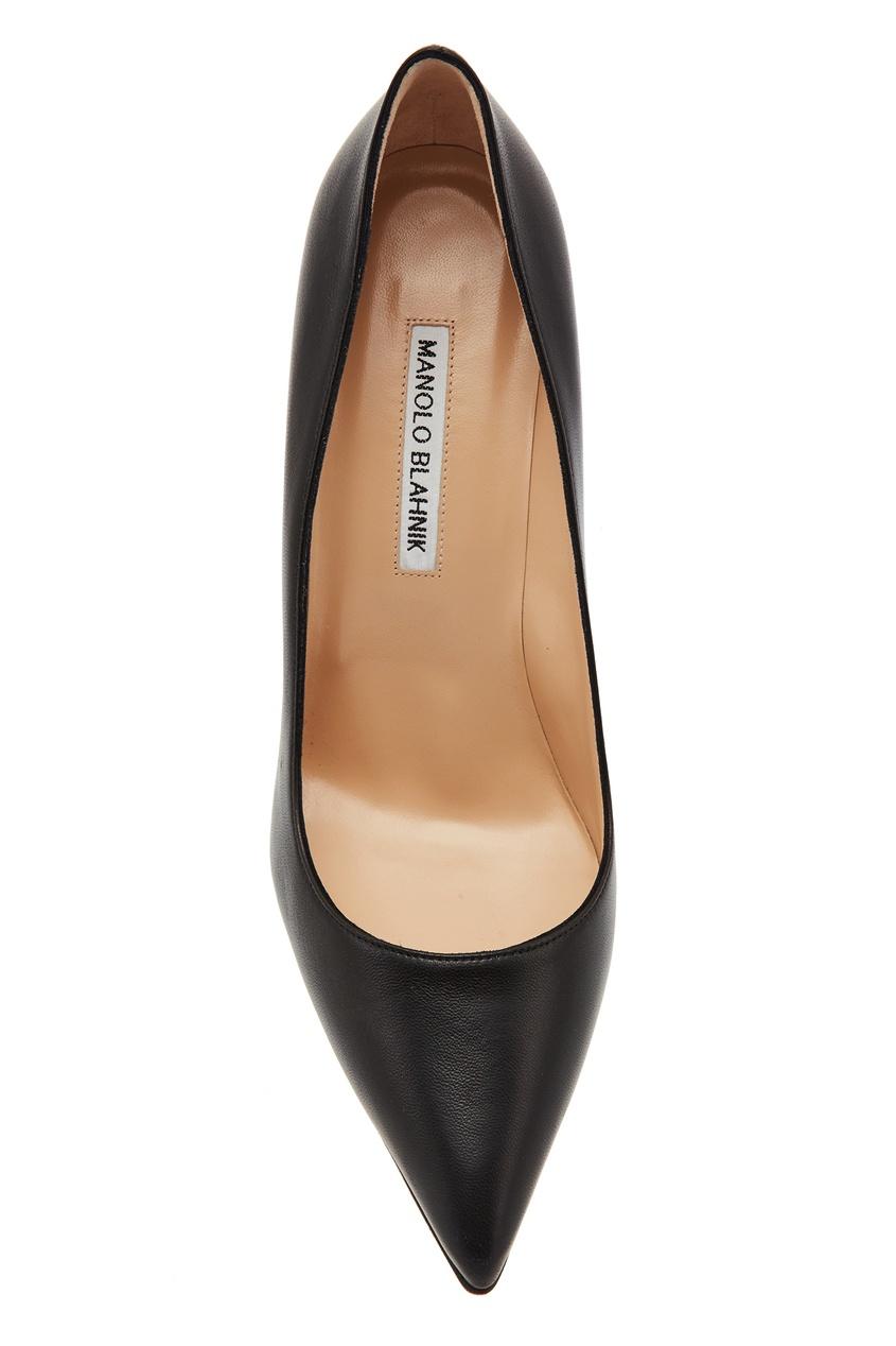 Фото 6 - Черные туфли BB из кожи от Manolo Blahnik черного цвета