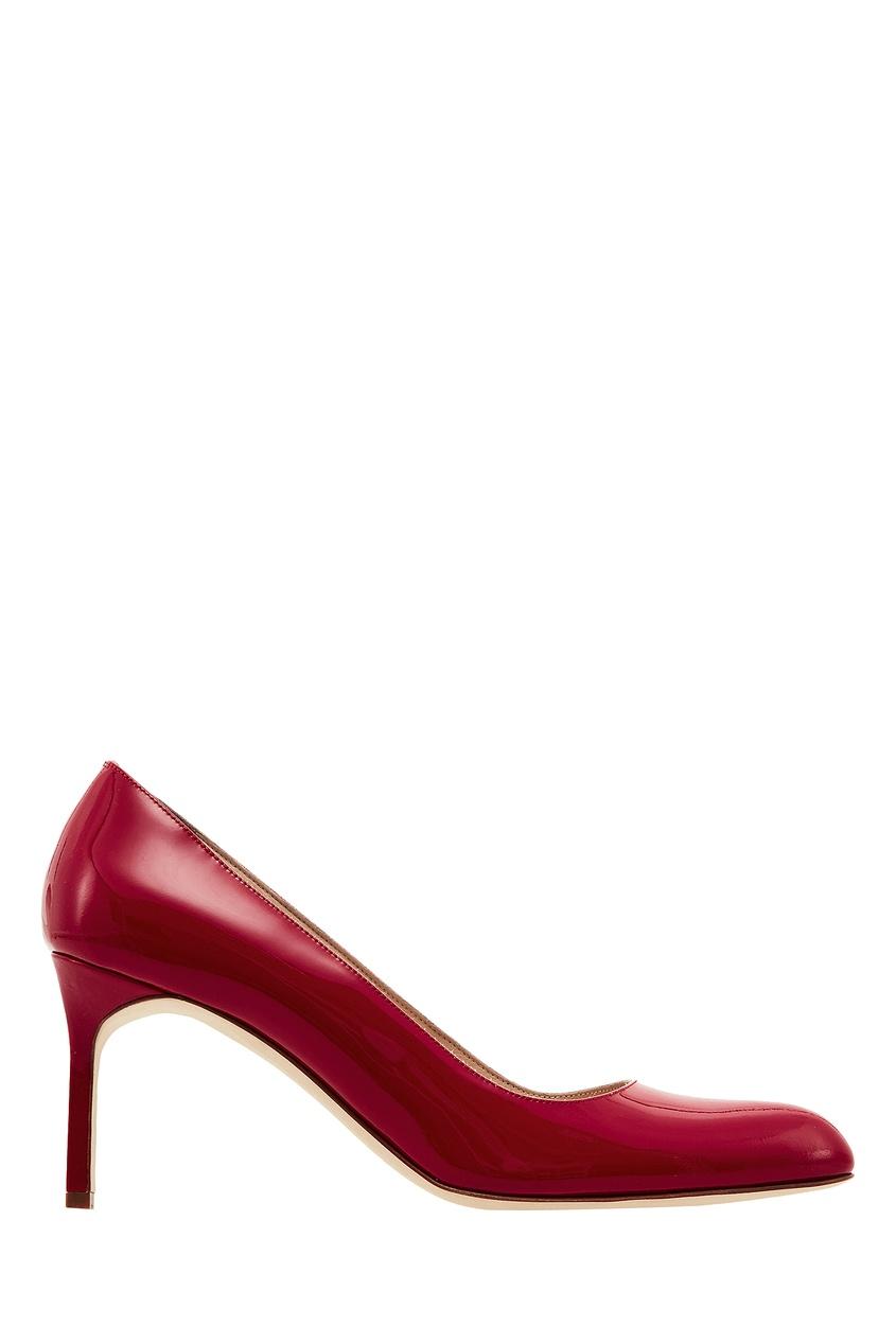 Купить Красные лакированные туфли BBR от Manolo Blahnik красного цвета