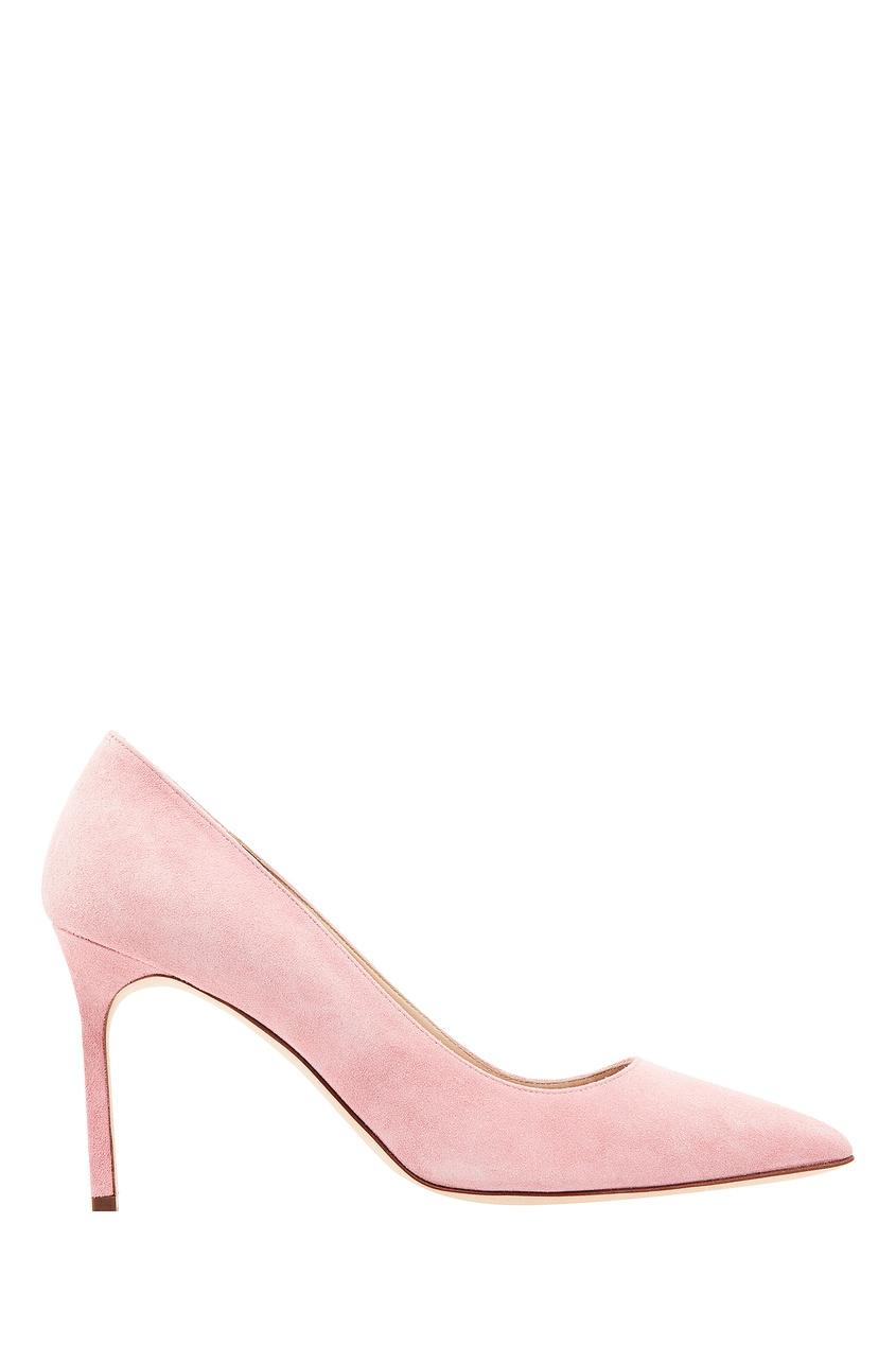 Купить Розовые замшевые туфли BB от Manolo Blahnik розового цвета