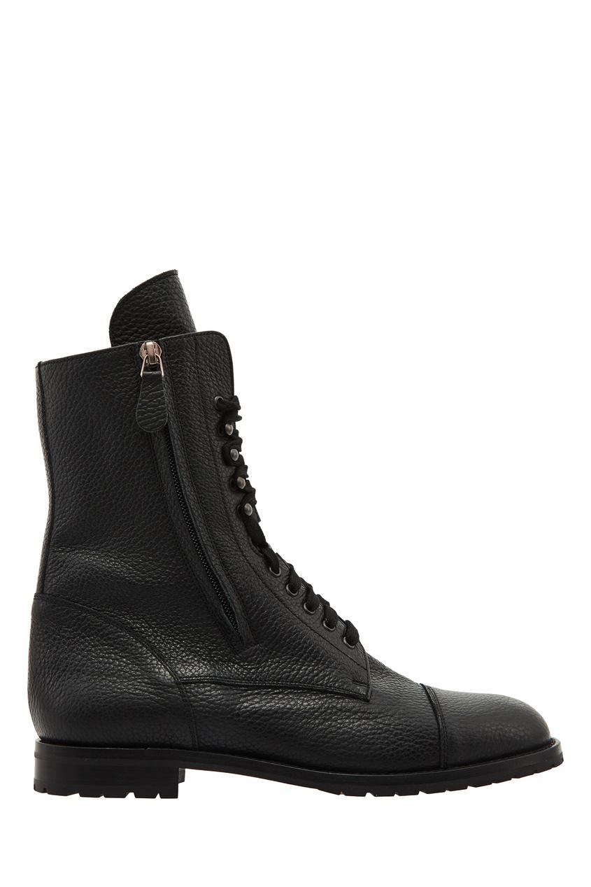 Черные кожаные ботинки Campcha от Manolo Blahnik