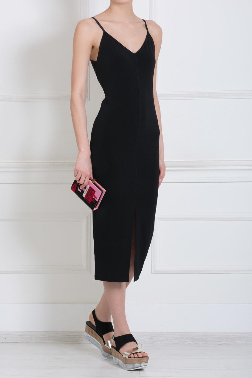 Приталенное платье на бретельках