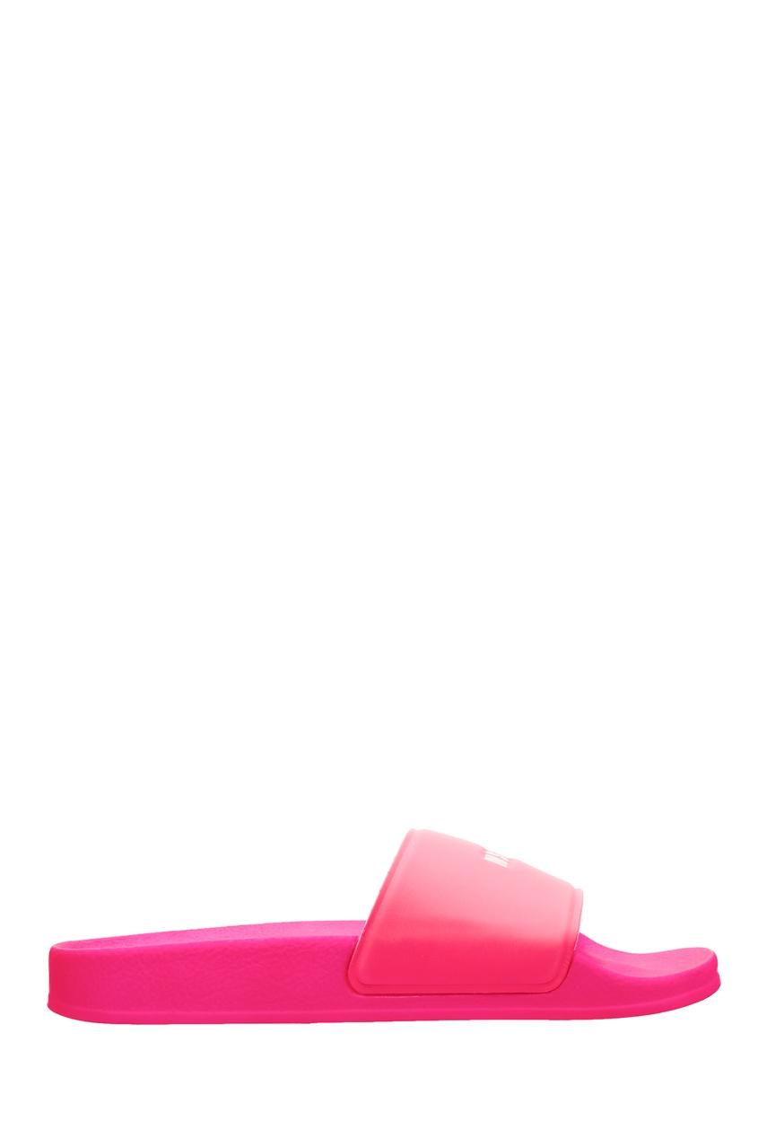 Ярко-розовые пантолеты с логотипом MSGM