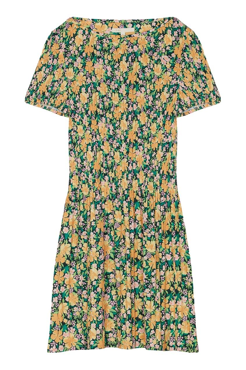 Купить Мини-платье с цветочным принтом от Maje цвет multicolor
