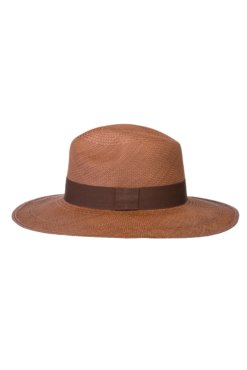 Коричневая соломенная шляпа CANOE