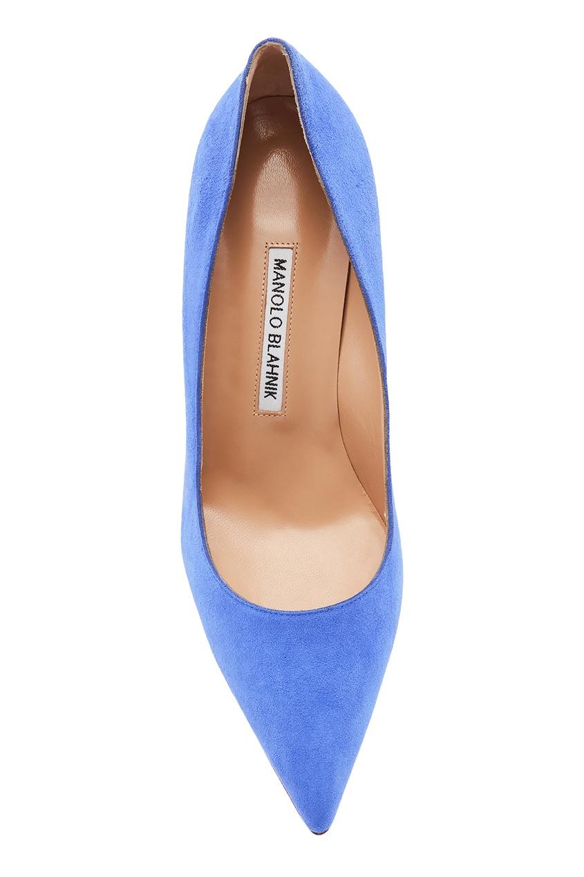 женские туфли manolo blahnik, синие