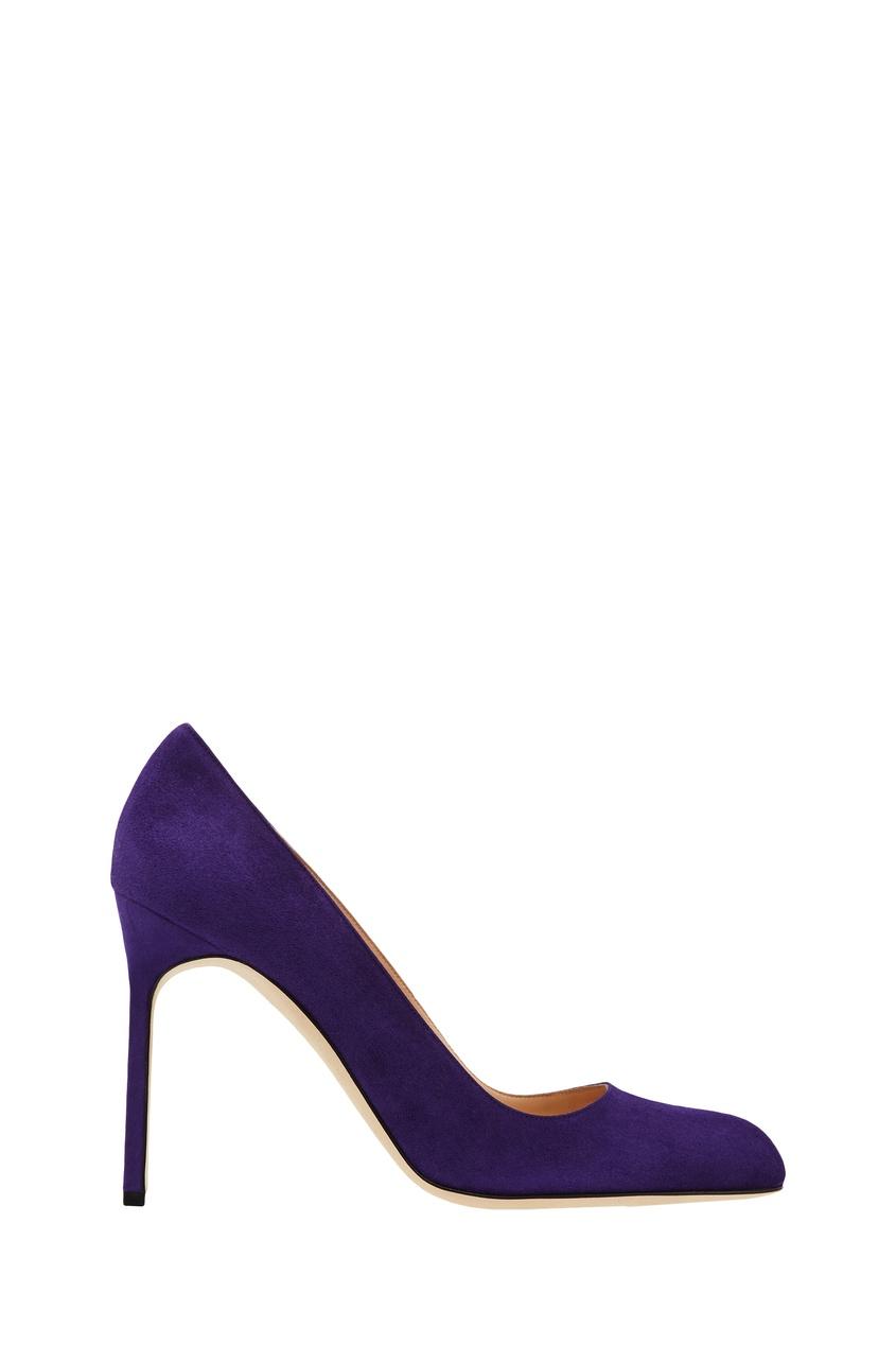 женские туфли manolo blahnik, фиолетовые