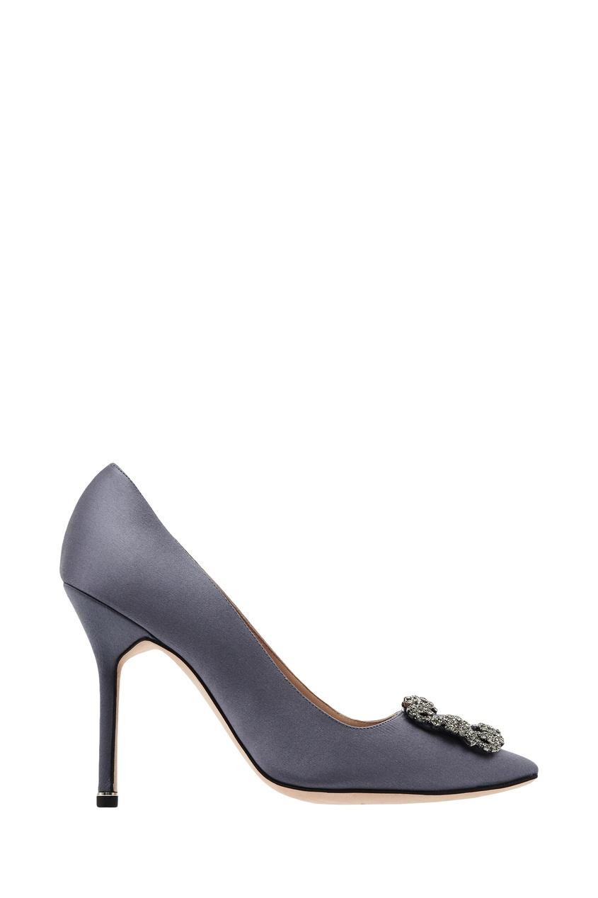 Купить Серо-голубые туфли Hangisi от Manolo Blahnik голубого цвета