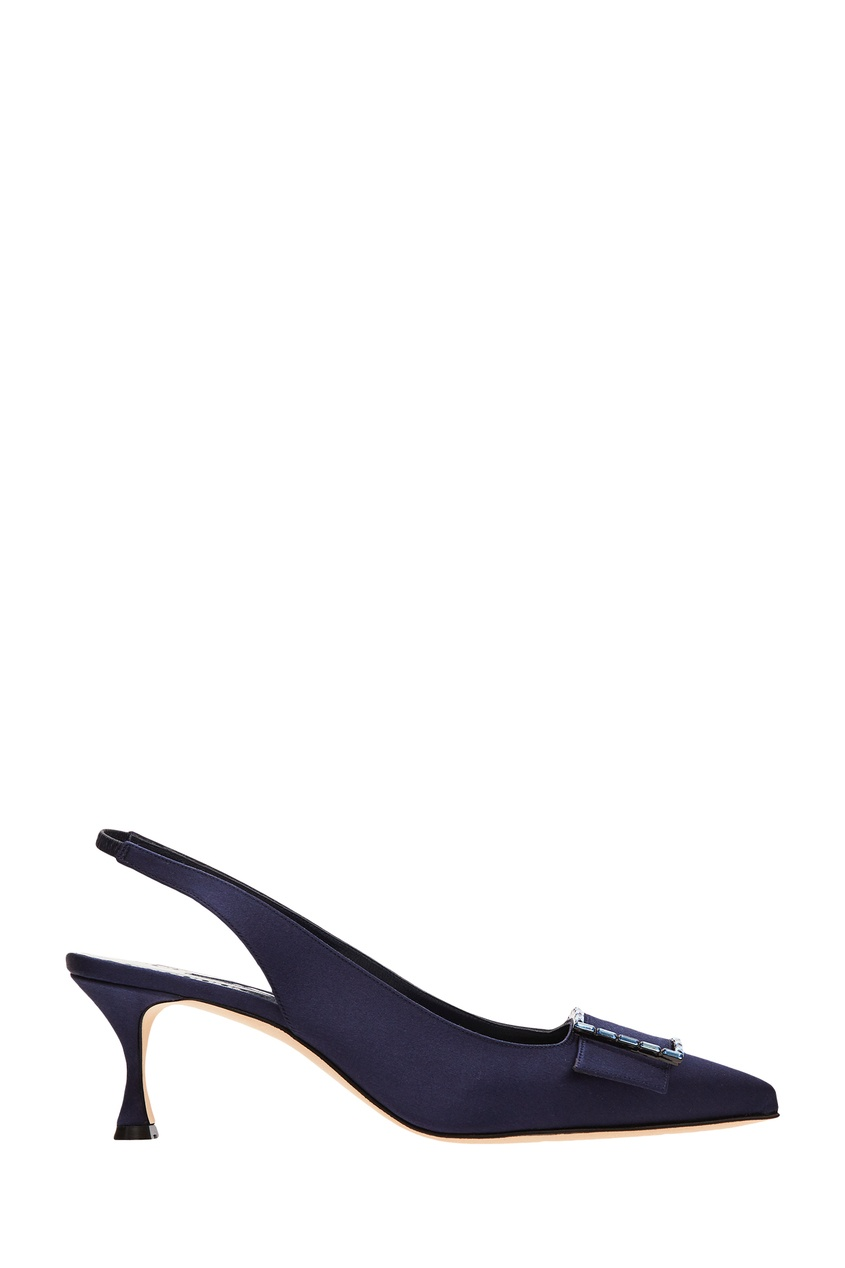 Синие туфли Dolores Manolo Blahnik