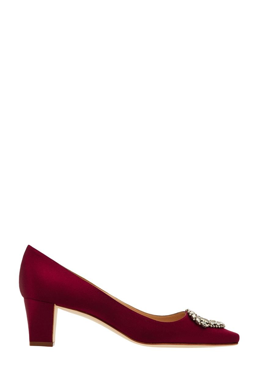 Купить Бордовые туфли Okkato от Manolo Blahnik красного цвета