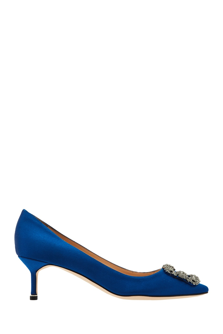 Купить Синие туфли Hangisi от Manolo Blahnik синего цвета
